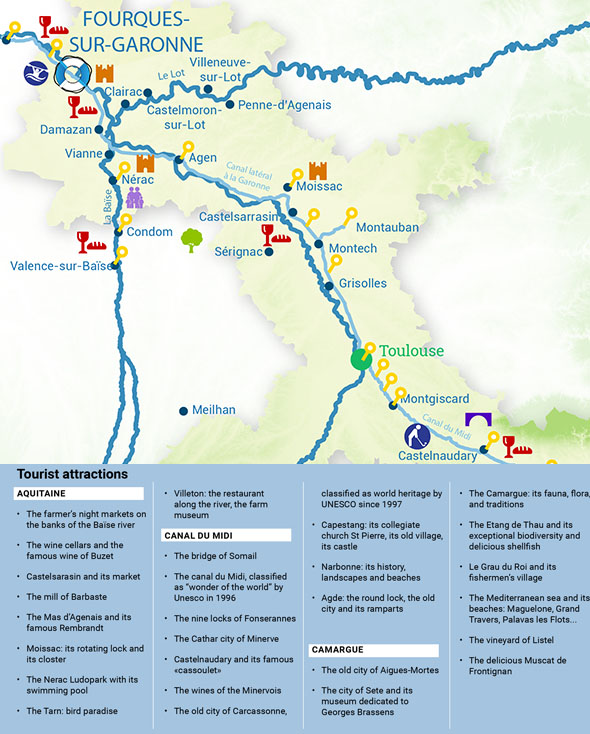 Routes River cruise aquitaine