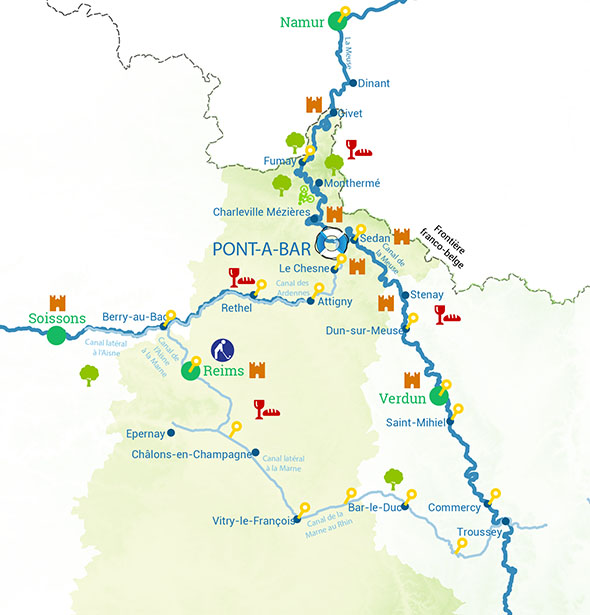 Routes River cruise ardennes
