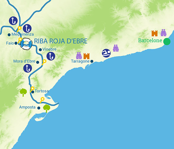 River cruise routes Spain