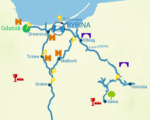 River cruise itineraries Poland